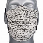RETAIL: Reusable cotton face mask with OEKO Tex gray graphics