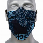 WHOLESALE: Protective black cotton mask with reusable silver ions OEKO Tex PRINT
