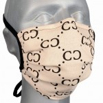 WHOLESALE: Protective black cotton mask with reusable silver ions OEKO Tex GLAMOUR