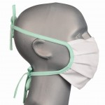 WHOLESALE: BTN cotton hygienic protective mask with reusable silver ions WHITE
