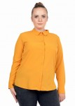 Classic ladies' buttoned shirt with a collar for the office LEMA large size 44-52