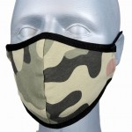 WHOLESALE: Reusable cotton mask BELL for children with OEKO Tex silver ions CAMO