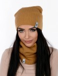 Winter set: hat with tube MARLU Smurfette smooth II