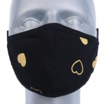 WHOLESALE: Reusable cotton mask BELL for children with OEKO Tex silver ions Gold Hearts