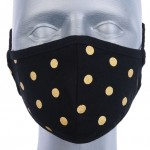 WHOLESALE: Reusable cotton mask BELL for children with OEKO Tex silver ions Gold dots