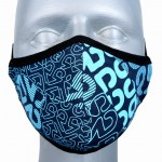 WHOLESALE: Reusable cotton mask BELL for children with OEKO Tex silver ions Blue printing
