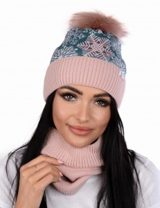 Women's winter PERFECT Snow  set cap with a tube and fleece